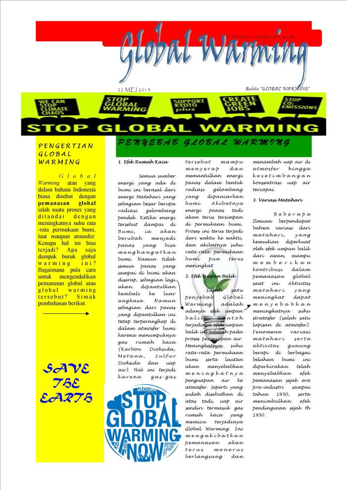 "BULETIN ""GLOBAL WARMING"""